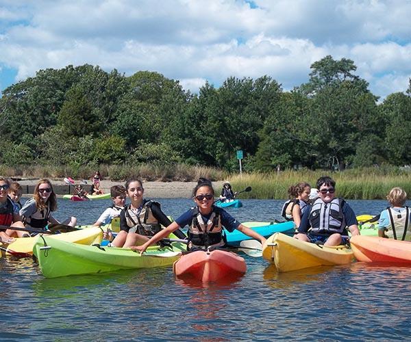 Rocky Hill students kayaking